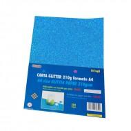 Carta Glitter 10 Fogli Blu cielo - Wiler GLP10C12