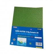 Carta Glitter 10 Fogli Verde scuro - Wiler GLP10C24