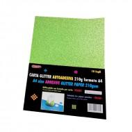 Carta Glitter Verde chiaro Autoadesiva 10 Fogli 210g - Wiler GLP10AC13