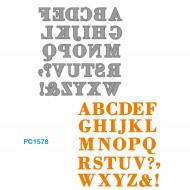 Fustelle Sottili Per Macchina Fino a 80mm Alfabeto - Wiler PC1578