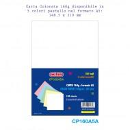 Carta colorata 160g A5 100 fogli 5 colori Tenui - Wiler CP160A5A