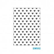 Cartella effetto rilievo 2D Forma Cuori - Wiler EM502