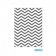 Cartella effetto rilievo 2D Forma Zig Zag - Wiler EM504