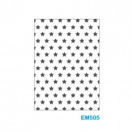 Cartella effetto rilievo 2D Forma Stelle - Wiler EM505