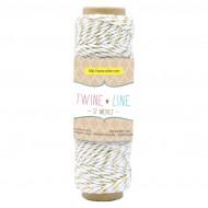 Cordino in cotone Colore Oro effetto Metallic rocchetto da 27 metri - Wiler TWL01