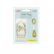 Kit etichette con filo Sagoma Merry Christmas 10 etichette + 2m di spago - Wiler TAG304
