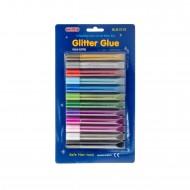 Blister colla Glitter Glue da 12 tubetti - Wiler GLG1210