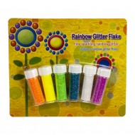 Blister Glitter Rainbow Polvere 6 tubetti da 3g - Wiler GF063R