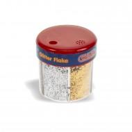 Barattolo Glitter Polvere da 6 colori - Wiler GF0610