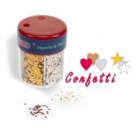 Barattolo Glitter confetti cuori e stelle 6 modelli - Wiler CFG06