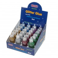 Espositore Glitter Glue 24 pezzi x 6 colori da 20 ml  - Wiler GLG2420