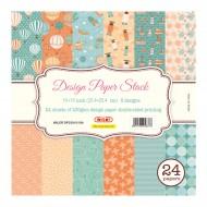 """Carta Kraft per Origami 10""""x 10"""" 230 gsm Stampa su 2 Lati - Wiler DP2301010A"""