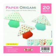 Carta per Origami 150X150mm 80 gsm Stampata doppio lato - Wiler OP15C