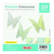 Carta per Origami 150X150mm 80 gsm Stampata doppio lato - Wiler OP15D