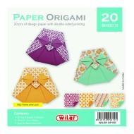 Carta per Origami 150X150mm 80 gsm Stampata doppio lato - Wiler OP15E