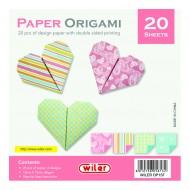 Carta per Origami 150X150mm 80 gsm Stampata doppio lato - Wiler OP15F