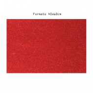 Eva Foam Rosso Gomma Espansa Glitter 2mm Formato 40x60cm - Wiler EVA4060C34