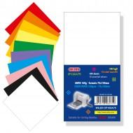 Carta colorata 160g 75x145mm 100 fogli 10 coloriper fustellatrici rosa80 / viola80 - Wiler CPA160A75