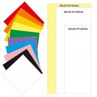 Carta colorata 160g 63x130mm 100 fogli 10 colori per TAG01 / TAG02 - Wiler CP160A63