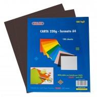 Carta Colorata colore Nero 220g Formato A4 100 fogli - Wiler CP220C02