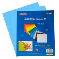 Carta Colorata colore Azzurro 220g Formato A4 100 fogli - Wiler CP220C03