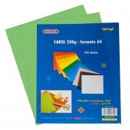 Carta Colorata Verde 220g Formato A4 100 fogli - Wiler CP220C04