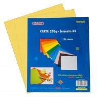 Carta Colorata Giallo 220g Formato A4 100 fogli - Wiler CP220C05