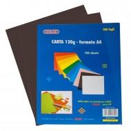 Carta Colorata Nero 120g Formato A4 100 fogli - Wiler CP120C02