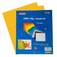 Carta Colorata Giallo intenso 120g Formato A4 100 fogli - Wiler CP120C06