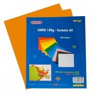 Carta Colorata Arancione 120g Formato A4 100 fogli - Wiler CP120C07