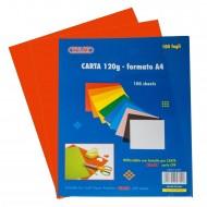 Carta Colorata Rosso 120g Formato A4 100 fogli - Wiler CP120C08