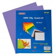Carta Colorata Viola 120g Formato A4 100 fogli - Wiler CP120C010