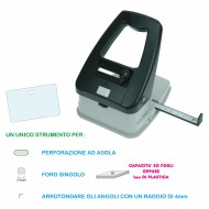 Perforatore 3 in 1 foro tondo, asola, arrotonda angoli - Wiler PA03