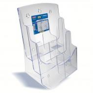 Portadepliant Formato A4 ad 3 scomparti, da scrivania ò da muro - Wiler BH3A4