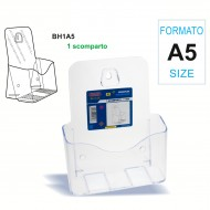 Portadepliant Formato A5 ad 1 scomparto, da scrivania ò da muro - Wiler BH1A5