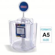Portadepliant Rotante Formato A5 a 3 scomparti - Wiler BH3A5R